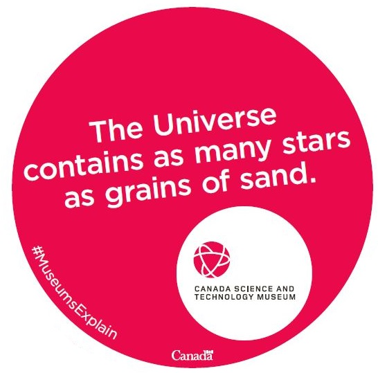 The Universe contains as many stars as grains of sand on Earth.